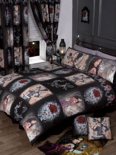 ALCHEMY STORY OF THE ROSE TEENAGE GOTHIC BEDROOM BEDDING DUVET QUILT COVER
